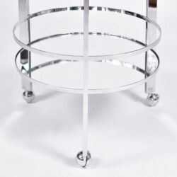 The image for Us Circular Chrome Drinks Trolley 02