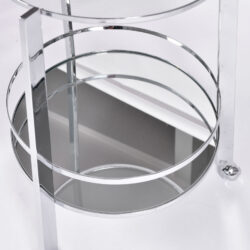 The image for Us Circular Chrome Drinks Trolley 03