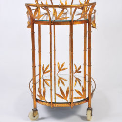 The image for Us Gilded Bamboo Leaves Trolley 02