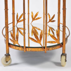 The image for Us Gilded Bamboo Leaves Trolley 05