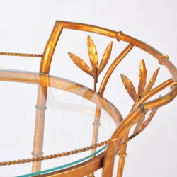 The image for Us Gilded Bamboo Leaves Trolley 06