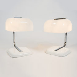 The image for Valerie Wade 1950S Chrome White Lamps –01