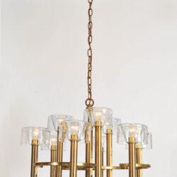 The image for Valerie Wade 1950S Italian Brass Chenadelier 03