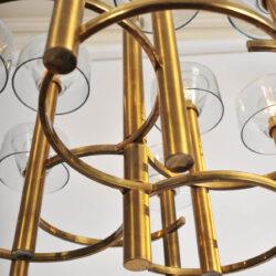The image for Valerie Wade 1950S Italian Brass Chenadelier 05
