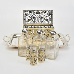 The image for Valerie Wade Bohemian Silver Glass Drinks Set 01