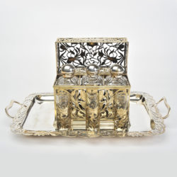 The image for Valerie Wade Bohemian Silver Glass Drinks Set 02