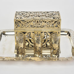 The image for Valerie Wade Bohemian Silver Glass Drinks Set 03