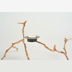 The image for Valerie Wade Twig Candle Holder Copper 04