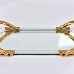 The image for Brass And Mirror Tray 02