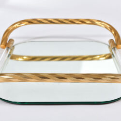 The image for Brass And Mirror Tray 03