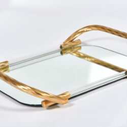 The image for Brass And Mirror Tray 04
