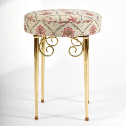The image for Brass Dressing Table Stool 02