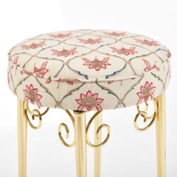 The image for Brass Dressing Table Stool 03