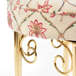 The image for Brass Dressing Table Stool 04