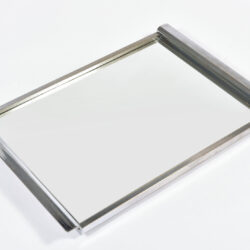 The image for Medium Chrome Mirrored Tray 05