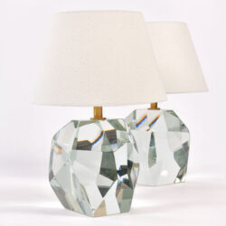The image for Pair Clear Rock Lamps 01