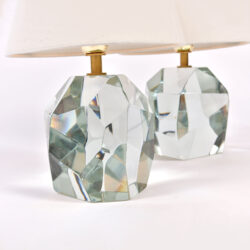 The image for Pair Clear Rock Lamps 03