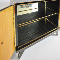 The image for Valerie Wade 0621 Pair 1970S Italian Black Glass Cabinets 09