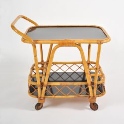 The image for Valerie Wade Ams653 1950S French Bamboo Drinks Trolley 02