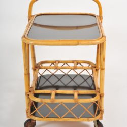 The image for Valerie Wade Ams653 1950S French Bamboo Drinks Trolley 03
