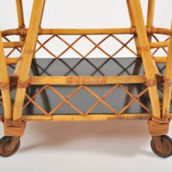 The image for Valerie Wade Ams653 1950S French Bamboo Drinks Trolley 05