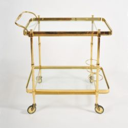 The image for Valerie Wade Ams656 1950S Italian Brass Drinks Trolley 01