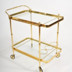 The image for Valerie Wade Ams656 1950S Italian Brass Drinks Trolley 02