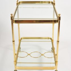 The image for Valerie Wade Ams656 1950S Italian Brass Drinks Trolley 03