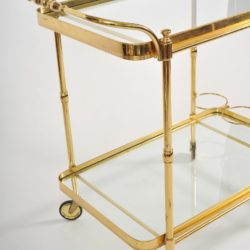 The image for Valerie Wade Ams656 1950S Italian Brass Drinks Trolley 04