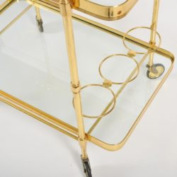 The image for Valerie Wade Ams656 1950S Italian Brass Drinks Trolley 05