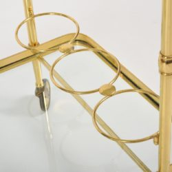 The image for Valerie Wade Ams656 1950S Italian Brass Drinks Trolley 07