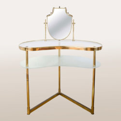 The image for Valerie Wade Fd336 Brass Polka Dot Dressing Table I