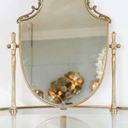 The image for Valerie Wade Fd336 Brass Polka Dot Dressing Table Vi