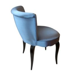 The image for Valerie Wade Fs026 Blue High Backed Upholstered Seat 02