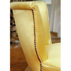 The image for Valerie Wade Fs410 Yellow Brass Studded Upholstered Seat 04