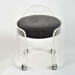 The image for Valerie Wade Fs581 1950S Us Lucite Circular Stool 04