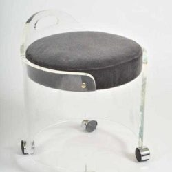 The image for Valerie Wade Fs581 1950S Us Lucite Circular Stool 06