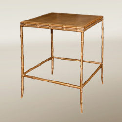 The image for Valerie Wade Ft232 Faux Bamboo Shagreen Side Table 01