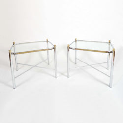 The image for Valerie Wade Ft578 Pair 1970S Chrome Brass Sides Tables01
