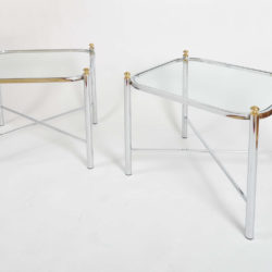 The image for Valerie Wade Ft578 Pair 1970S Chrome Brass Sides Tables02