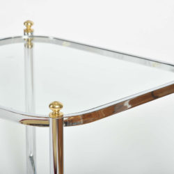 The image for Valerie Wade Ft578 Pair 1970S Chrome Brass Sides Tables03