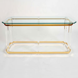 The image for Valerie Wade Ft586 1970S Us Lucite Brass Console Table 01