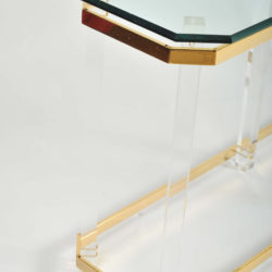 The image for Valerie Wade Ft586 1970S Us Lucite Brass Console Table 03