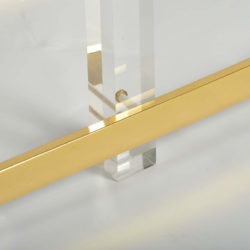 The image for Valerie Wade Ft586 1970S Us Lucite Brass Console Table 05