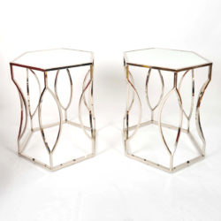 The image for Valerie Wade Ft598 Pair 1960S Us Hexagonal Side Tables01