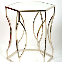 The image for Valerie Wade Ft598 Pair 1960S Us Hexagonal Side Tables02