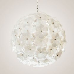 The image for Valerie Wade Lc071 White Murano Globe Chandelier 01