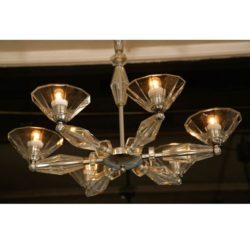 The image for Valerie Wade Lc083 1950S Italian Six Arm Glass Chandelier 02