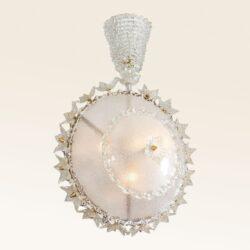 The image for Valerie Wade Lc317 1970S Italian Super Ornate Glass Chandelier 01