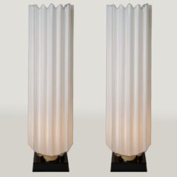 The image for Valerie Wade Lt271 Pair 1970S Fluted Lamps Rougier 01